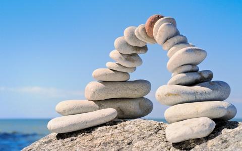 宏,石头,石头,桥梁