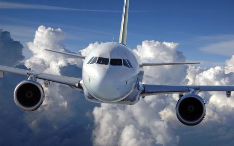 航空,云,飞机,飞行,天空