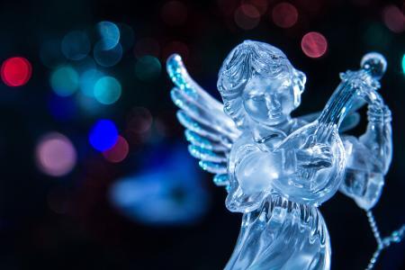 天使,琵琶,模糊,新年,灯光