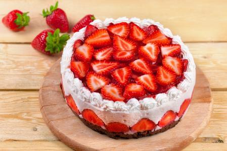 甜点,蛋糕,奶油,草莓