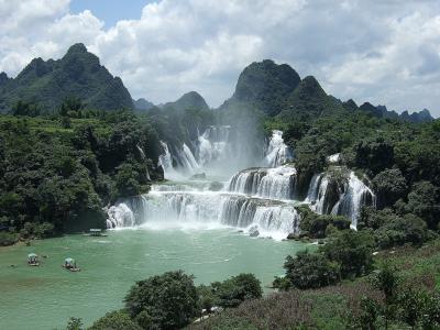 山,瀑布,大自然,美丽