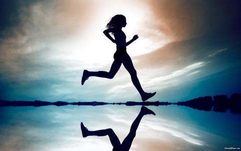 运动,跑步,田径,女孩