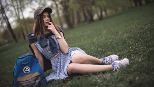 女孩,公园,摄影师,yura华纳