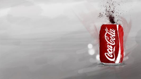 可口可乐,可以,喷,绘画,风格,品牌,可口可乐