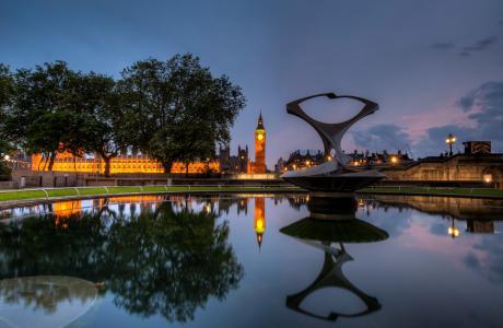 伦敦,伦敦,英国,英国,夜,夜,大本钟,英格兰