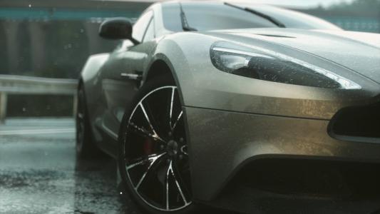 阿斯顿·马丁,超级跑车,下雨