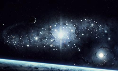地球,星星,行星,空间,光,表面