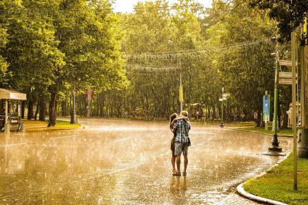 下雨,爱情,感情,美丽