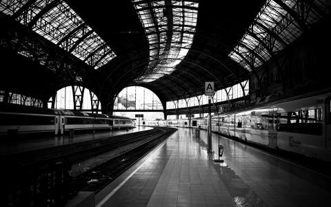 铁,火车,路径,照片,黑色,路,白色