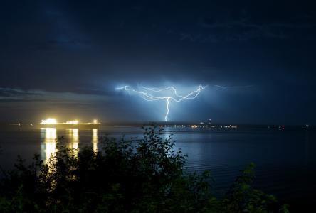 照片,雷暴,闪电,美丽