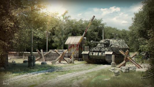 坦克,森林,费迪南德,自行火炮,大象,费迪南德
