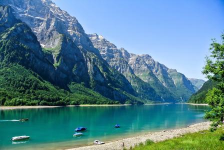 自然,山,阿尔卑斯山,瑞士,钓鱼,美女,超级照片,积极,休息
