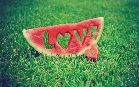 西瓜,爱情,浪漫,美丽