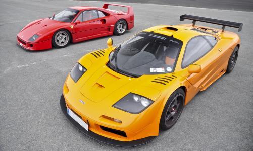 迈凯轮,超级跑车,gtr,麦克拉伦,f1,gtr,f1,法拉利,f40,红色,f40,法拉利