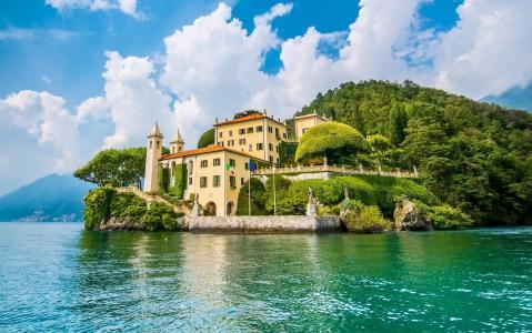 意大利,自然,山脉,家园和安逸
