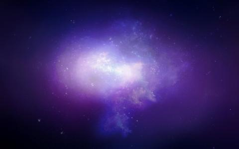 天空,天空,星星,发光