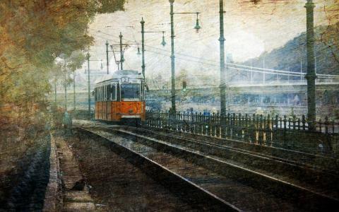 布达佩斯,城市,电车