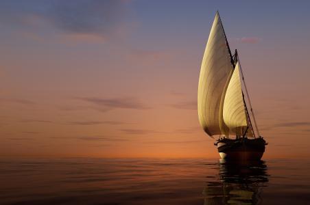 3d,船,艺术,幻想