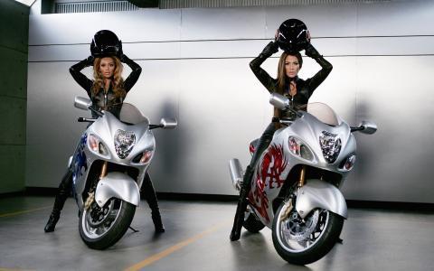 摩托车,碧昂丝,珍妮弗,洛佩兹