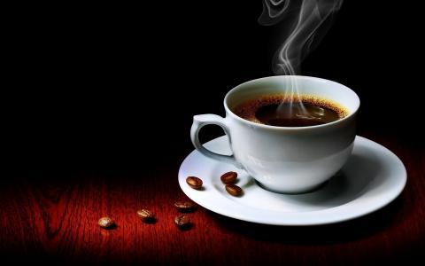 咖啡,杯子,背景