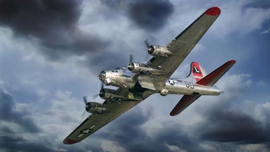 B-17,堡垒,飞机,波音,飞行,飞行要塞