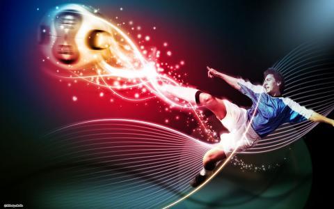 足球运动员,运动,足球