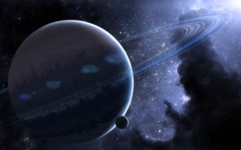 空间,环,星云,星球,空间,星球