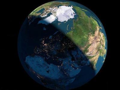 星球,白天,夜晚,空间
