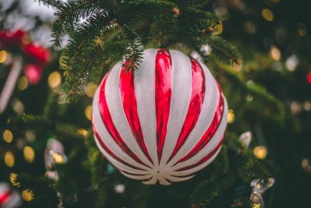 对象,玩具,散景,珠,圣诞树
