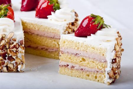 蛋糕,草莓,甜点,食物,美味,甜