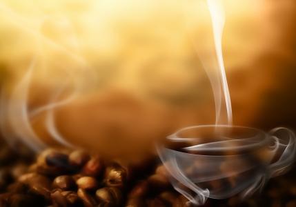 咖啡豆,咖啡,烟