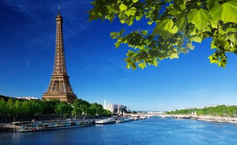 埃菲尔铁塔,拉埃菲尔铁塔,法国,巴黎,法国,巴黎,天空