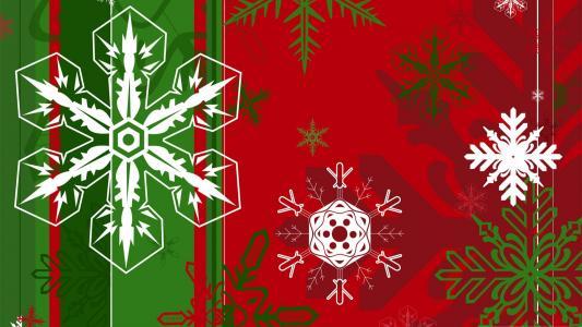 雪花,新的一年,圣诞节