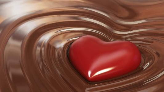 心脏,巧克力,3D