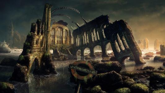废墟,墙壁遗迹,城堡