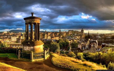 苏格兰,城市景观,爱丁堡,高清