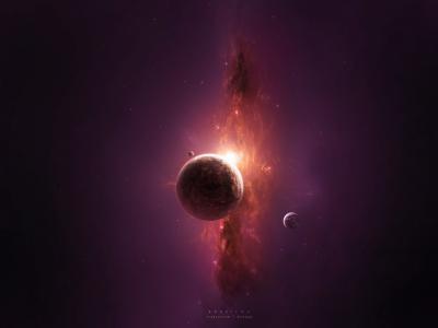 空间,行星,艺术,Thiagochackal,太阳
