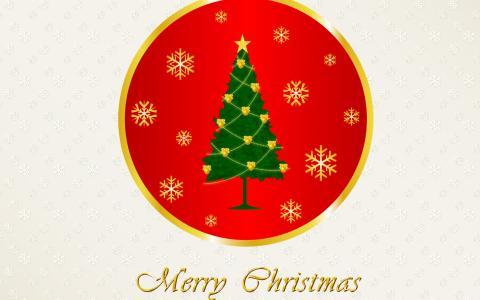 新的一年,圣诞快乐,圣诞树,雪花