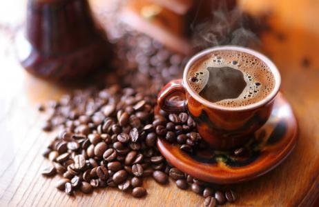 马克杯,饮料,咖啡,飞碟,泡沫,烟