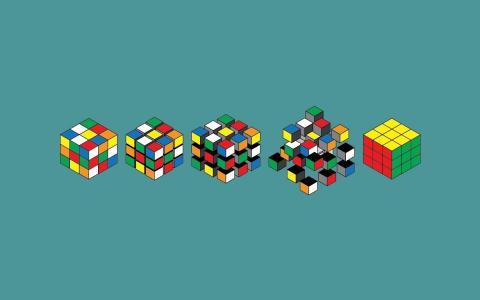 图形,变体,壁纸,背景,集合,极简主义,颜色,艺术,红宝石立方体,蓝色