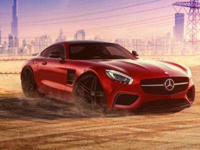 奔驰,超级跑车,奔驰,迪拜,阿联酋,停车