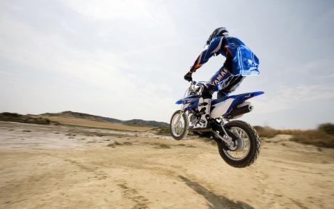 跳,摩托车,地平线,摩托车