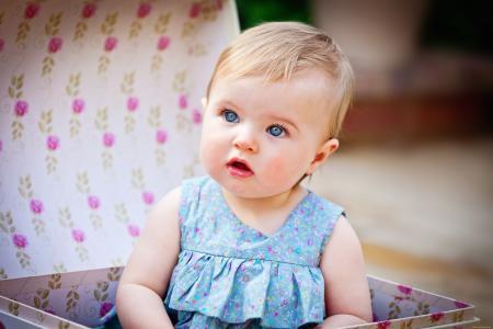 女孩,蓝色的眼睛,malvina