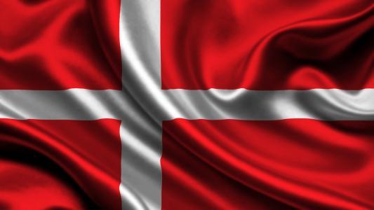 丹麦,国旗,3d,丹麦,国旗