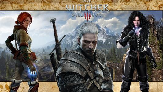 巫师3,巫师,狂猎,Geralt,珍妮弗,Triss,山,自然