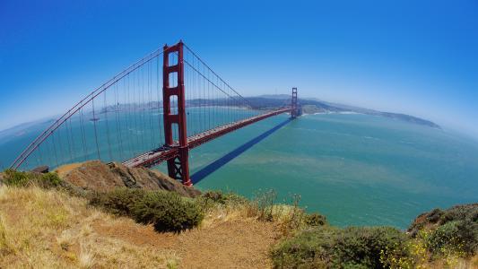 金门,旧金山,加州,海洋,桥,美国