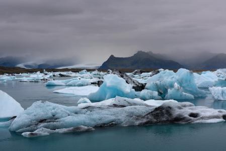 山,海,冰川,冰岛,君士坦丁马斯拉克