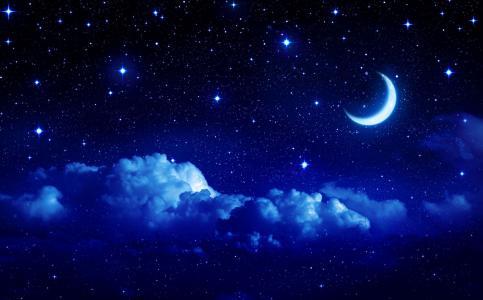 天空,photoshop,星星,月亮,云