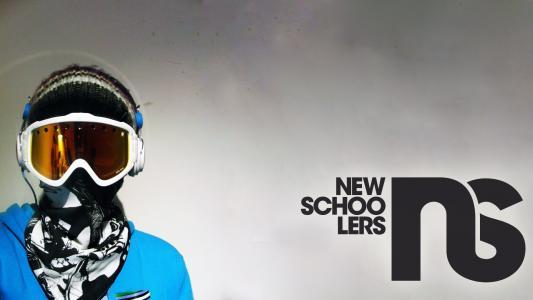 滑雪板,题字,围巾,帽子,眼镜,面具