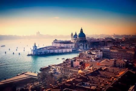 威尼斯,意大利,城市,运河,水,建筑物